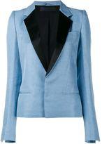 Haider Ackermann Classic Linen-Silk Blend Blazer Jacket