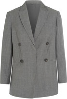 Brunello Cucinelli Double-breasted wool and linen-blend blazer