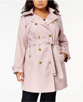 MICHAEL Michael Kors Size Double-Breasted Trench Coat