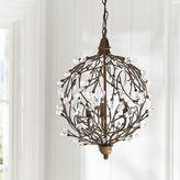 Romantic Sphere Chandelier, Iron/Crystal