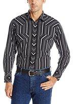 Wrangler Men's Silver Edition Western Sport Long Sleeve Snap Woven Shirt