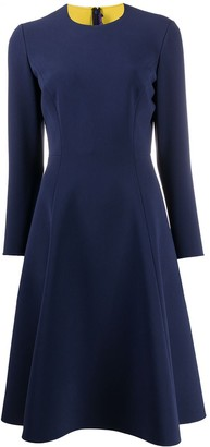 Ralph Lauren flared crew neck dress