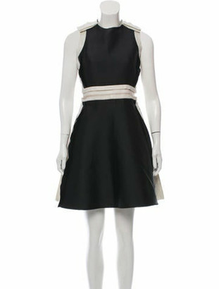 Lanvin 2016 Pleated Dress Black