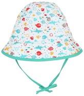 Sterntaler White Fish Print Bucket Hat