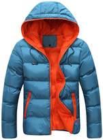 Anna-Kaci AK Men Women Winter Casual Hooded Light Padded Jacket Zipper Slim Outwear Coat