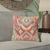 """Mont Ikat Throw Pillow Bloomsbury Market Size: 20"""" x 20"""", Color: Opal Fire"""