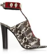 Altuzarra Zephyr Embellished Watersnake Sandals