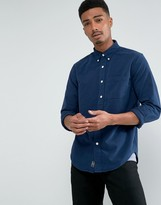 Abercrombie & Fitch Oxford Shirt Core Slim Fit In Navy