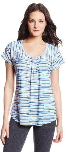 Jockey Women's Irregular Stripe Short Sleeve Pajama Top