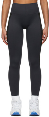 Reebok x Victoria Beckham Black and Navy Seamless Leggings