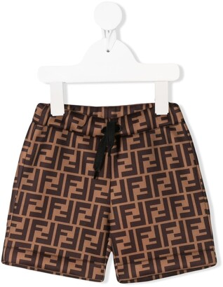 Fendi Kids FF monogram-print shorts