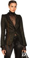 Ann Demeulemeester Blazer in Black,Metallics.