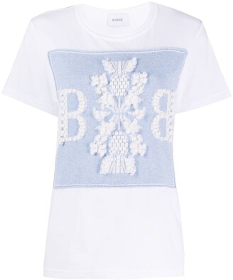 Barrie crew-neck embroidered T-shirt
