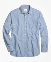Brooks Brothers Chambray Spread Collar Sport Shirt