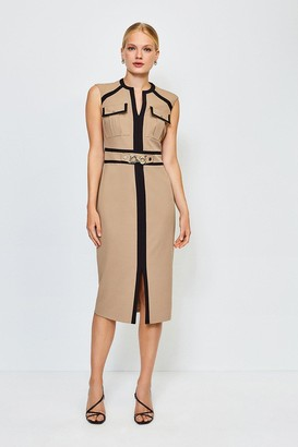 Karen Millen Utility Snaffle Trim Dress