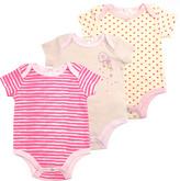 Tahari Baby Girls' Infant Bodysuits PINK - Heather Pink Floral Heart-Pocket Bodysuit Set - Newborn & Infant