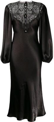 Christopher Kane Satin Lace Dress