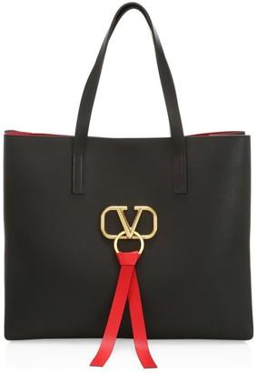 Valentino Medium VRing Leather Tote