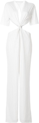 Dion Lee Cutout Pinstriped Jumpsuit