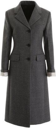 Prada Single Breasted Buttoned Coat