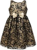 Jayne Copeland Velvet Flocked Special Occasion Dress, Big Girls (7-16)