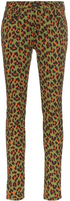 R 13 x Alison Mosshart high-rise leopard-print skinny jeans