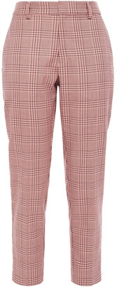 Iris & Ink Cellie Checked Jacquard Tapered Pants