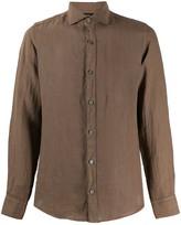 Ermenegildo Zegna plain spread-collar shirt