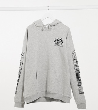 New Girl Order Curve oversized hoodie with friendly conversation print co-ord
