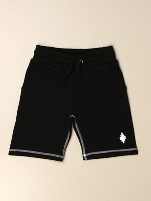 Marcelo Burlon County of Milan Cotton Jogging Shorts With Logo