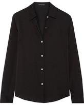 Theory Silk Crepe De Chine Shirt - Black