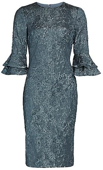 Theia Lightweight Cloque French Dress