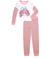 Intimo White & Pink Lalaloopsy 'Purrfect' Pajama Set - Girls