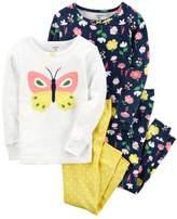 Carter's Baby Girl Embroidered Tees & Pants Pajama Set