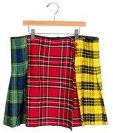 Junior Gaultier Girls' Plaid Knee-Length Skirt w/ Tags