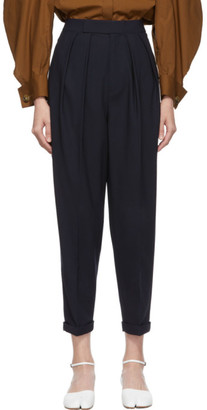 Enfold Navy Semi-Wide Trousers