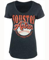 5th & Ocean Women's Houston Astros Fast Pitch Scoop T-Shirt