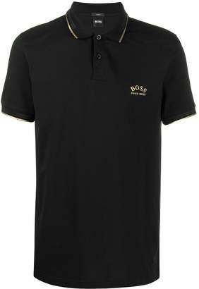 BOSS gold tipped polo shirt