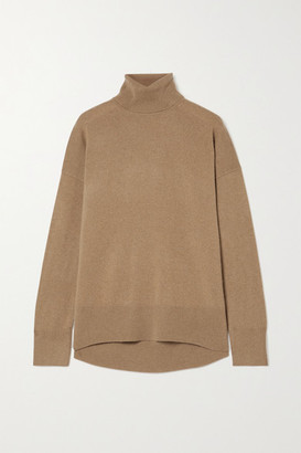 Theory Karenia Cashmere Turtleneck Sweater - Camel