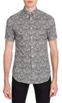 Alexander McQueen Lace-Print Button-Down Shirt