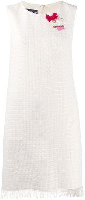 Boutique Moschino Embroidered Sleeveless Dress