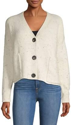 Design Lab V-Neck Cotton-Blend Cardigan