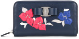 Salvatore Ferragamo floral embroidered wallet - women - Calf Leather - One Size