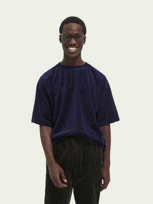 Scotch & Soda Relaxed velour short sleeve t-shirt | Men
