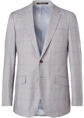 Richard James Blue Prince Of Wales Checked Wool Blazer