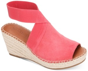 Gentle Souls by Kenneth Cole Women's Charli Elastic Espadrille Wedge Sandals Women's Shoes