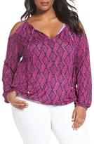 MICHAEL Michael Kors Plus Size Women's Mamba Cold Shoulder Peasant Top