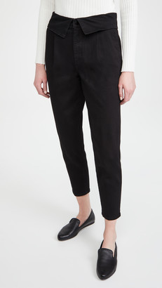 J Brand Fold Over Pleat Front Pants