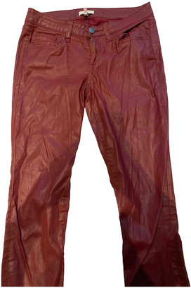 Joie Red Leather Trousers