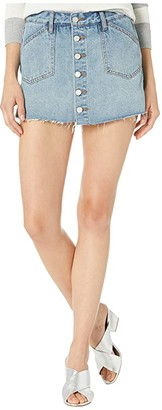 Blank NYC Denim Skort with Button Detail in Situationship